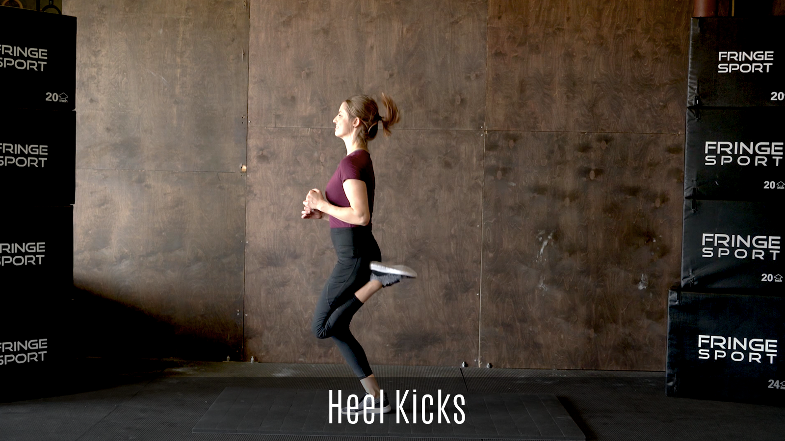 dynamic heel kicks exercise