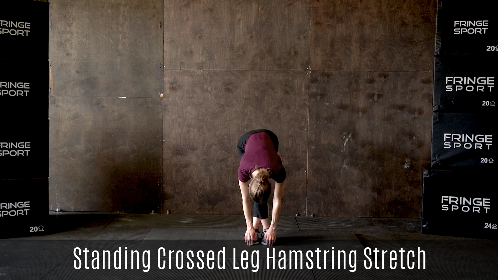 standing crossed legs hamstring stretch demo
