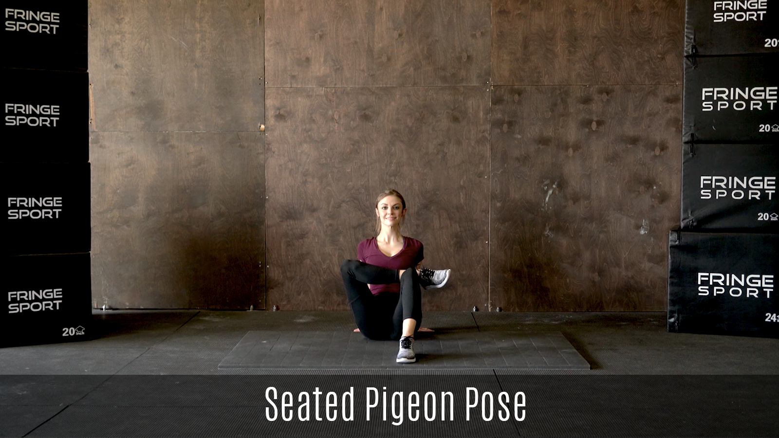 seated pigeon pose stretch demo