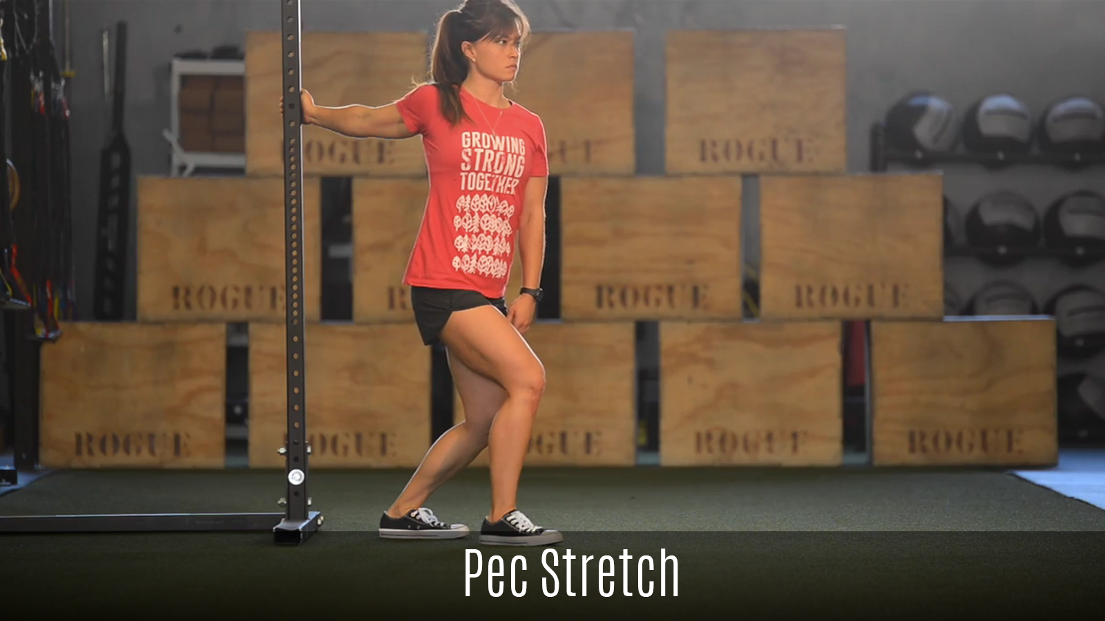 pec stretch demo using rack