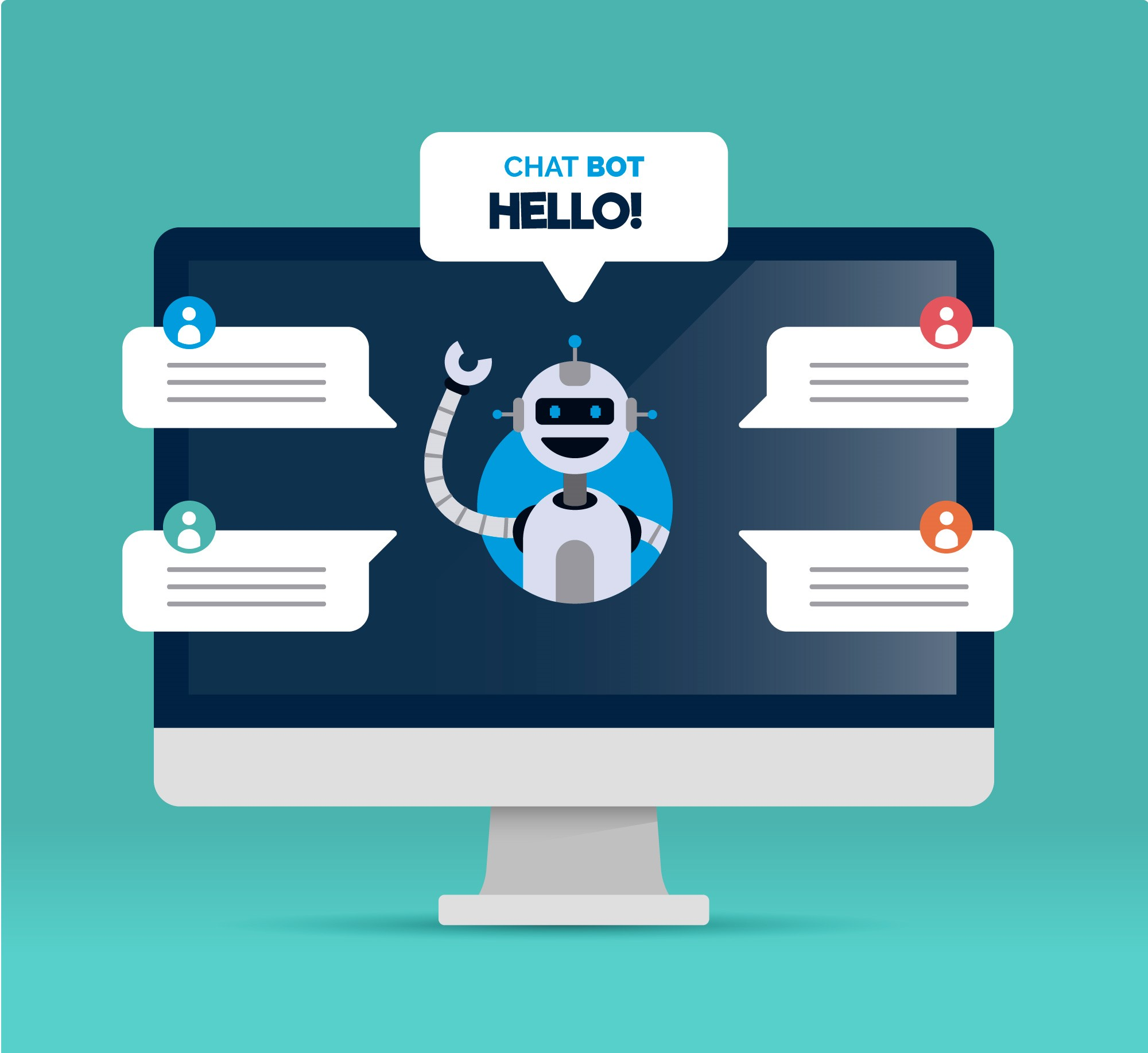 Webchat application is a chatbot used to interact with your website visitors