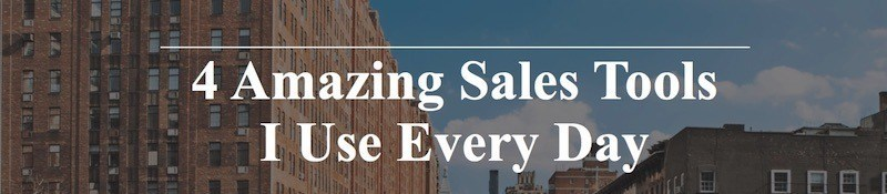 4 amazing sales tools