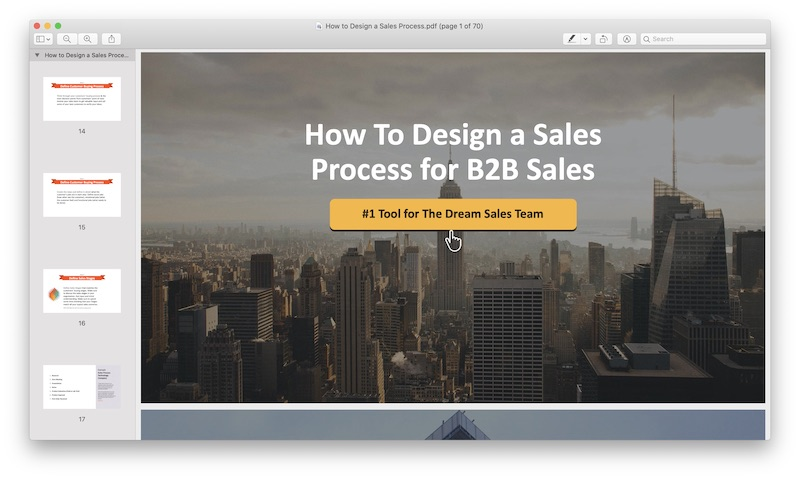How to design a sales process for B2B sales