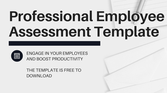 Professional Employee Assessment Template for Free