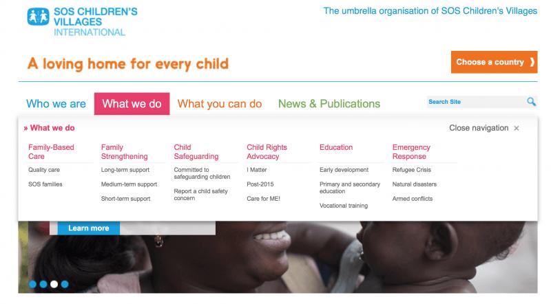 SOS Children's Villages charity organization