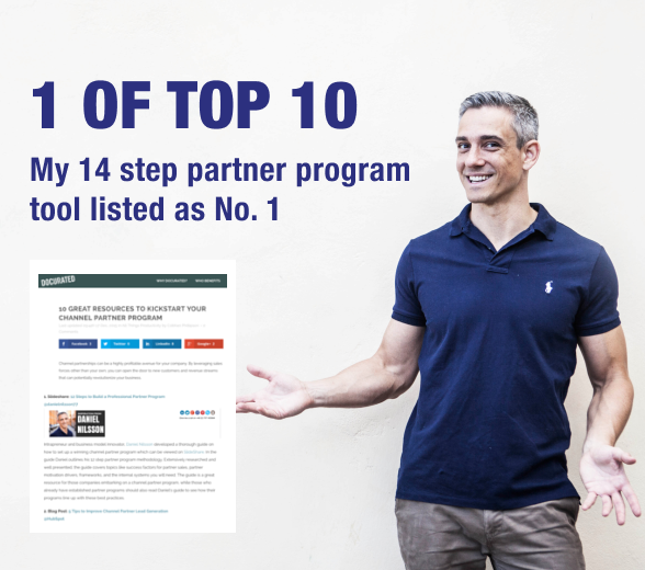 "My ""14 Steps to Build a Partner Program"" has been Top Listed"