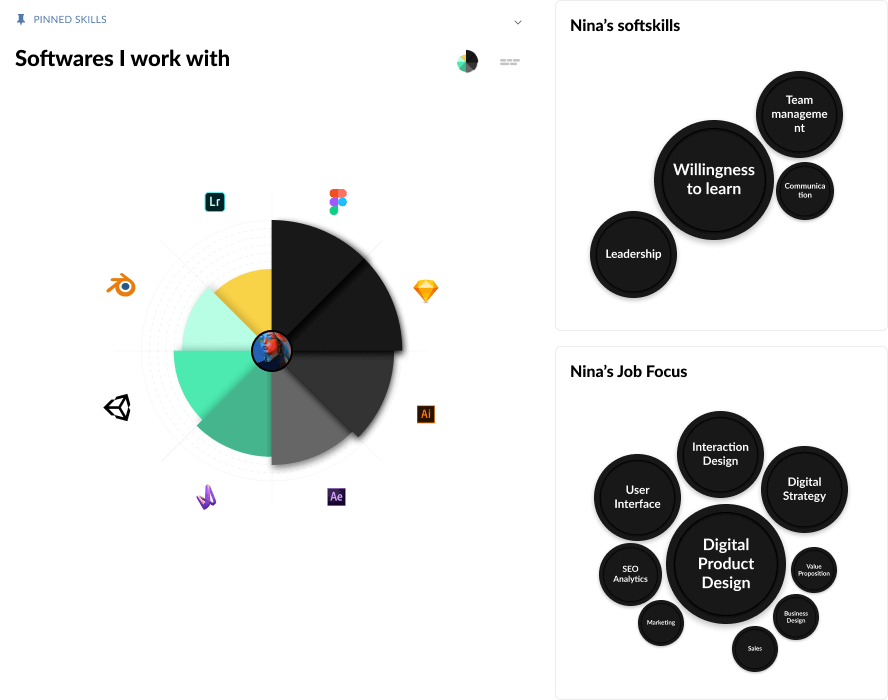 MuchSkills skills matrix, skill set and skills profile