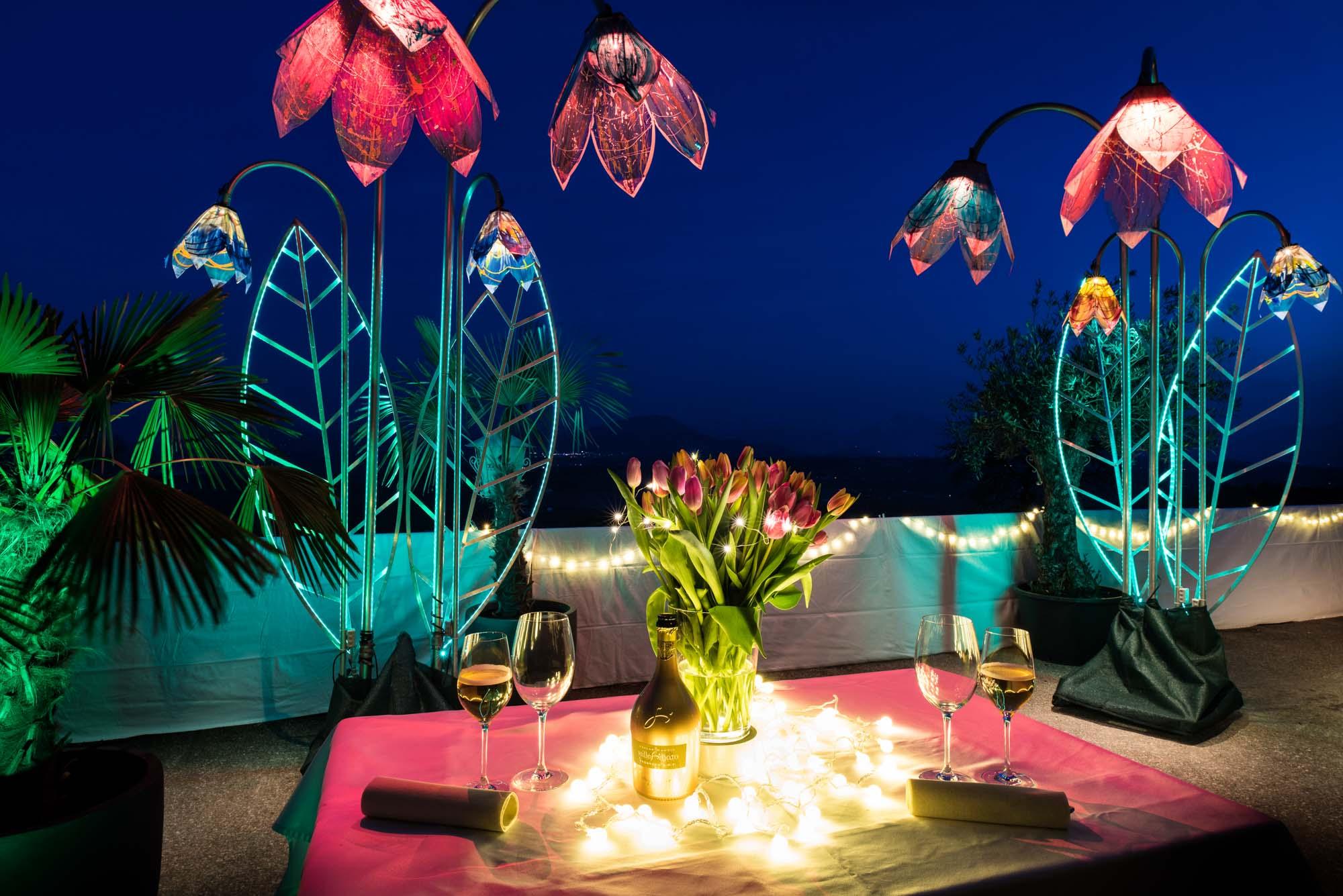 Kristallblumen | Hochzeitsdekoration
