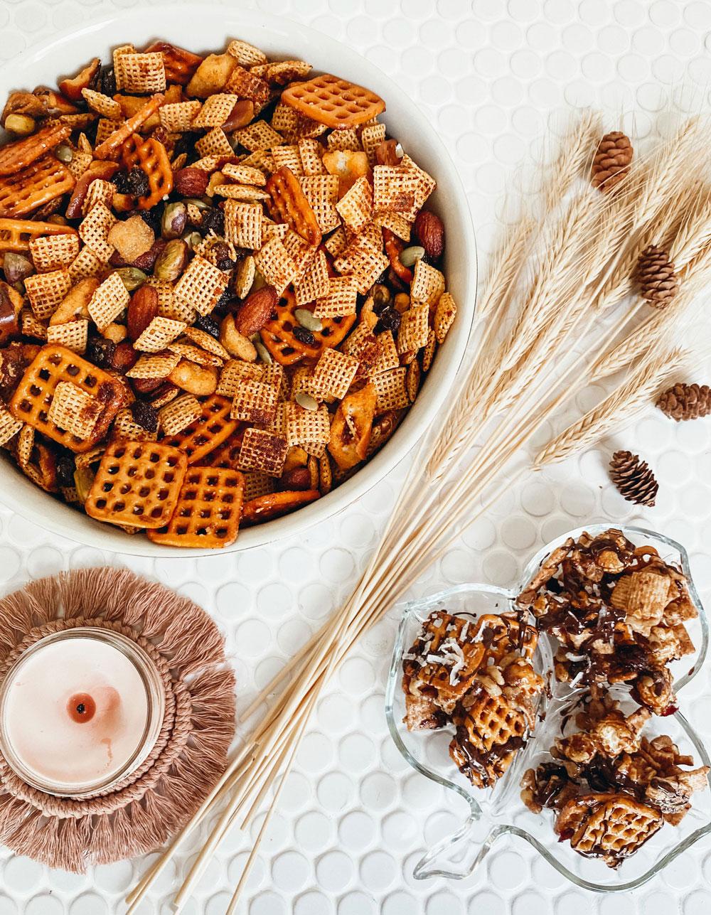Autumn Harvest Chex Mix Two Ways: Sweet & Savory