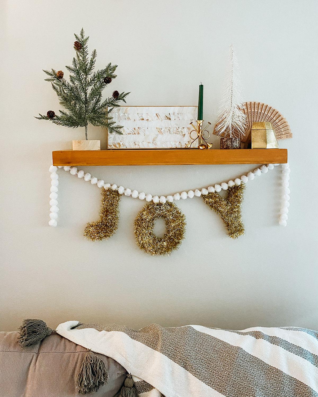 Joy Tinsel Garland DIY