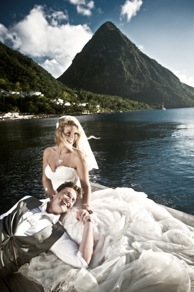 married couple by the pitons