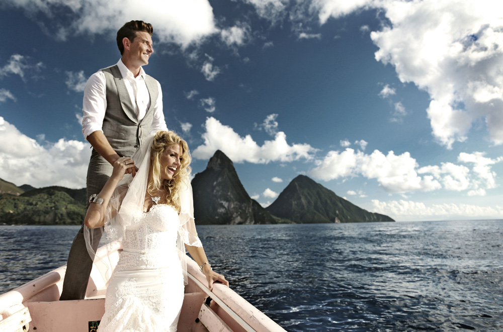 husband and wife on a boat