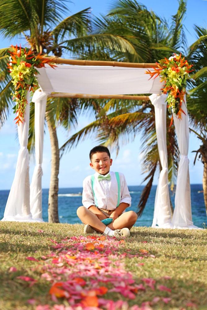 smiling boy at wedding