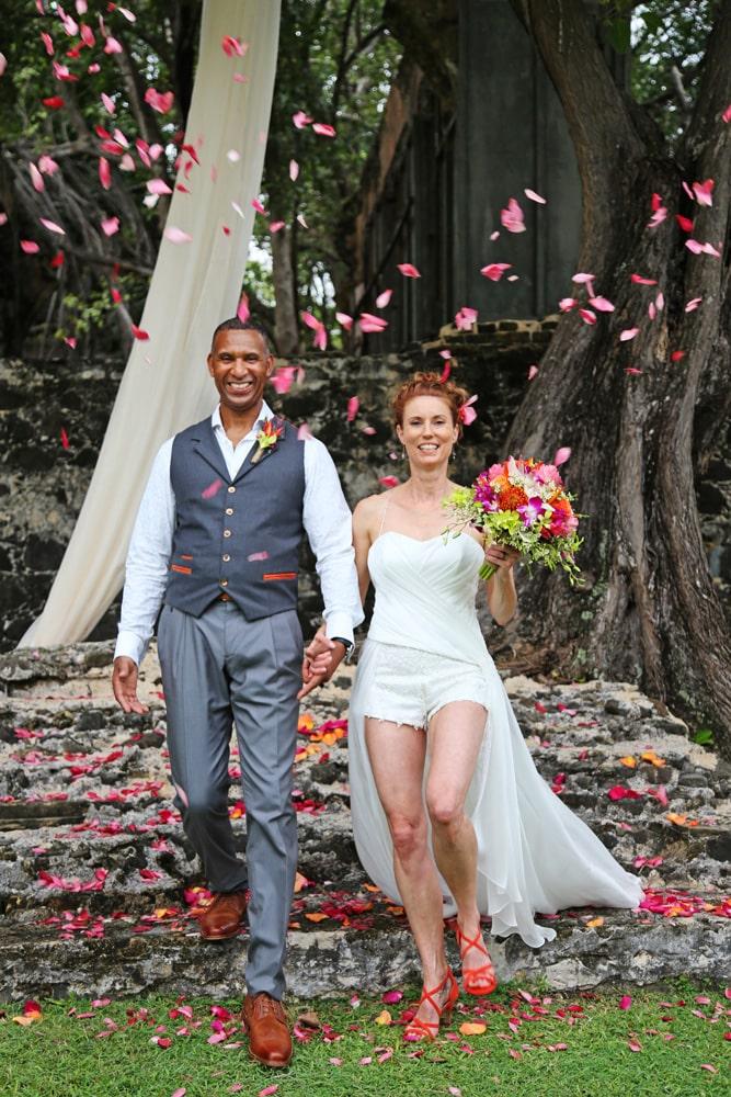 wedding day petals