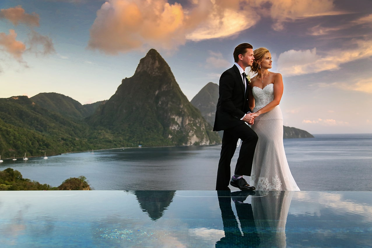 wedding at the pitons