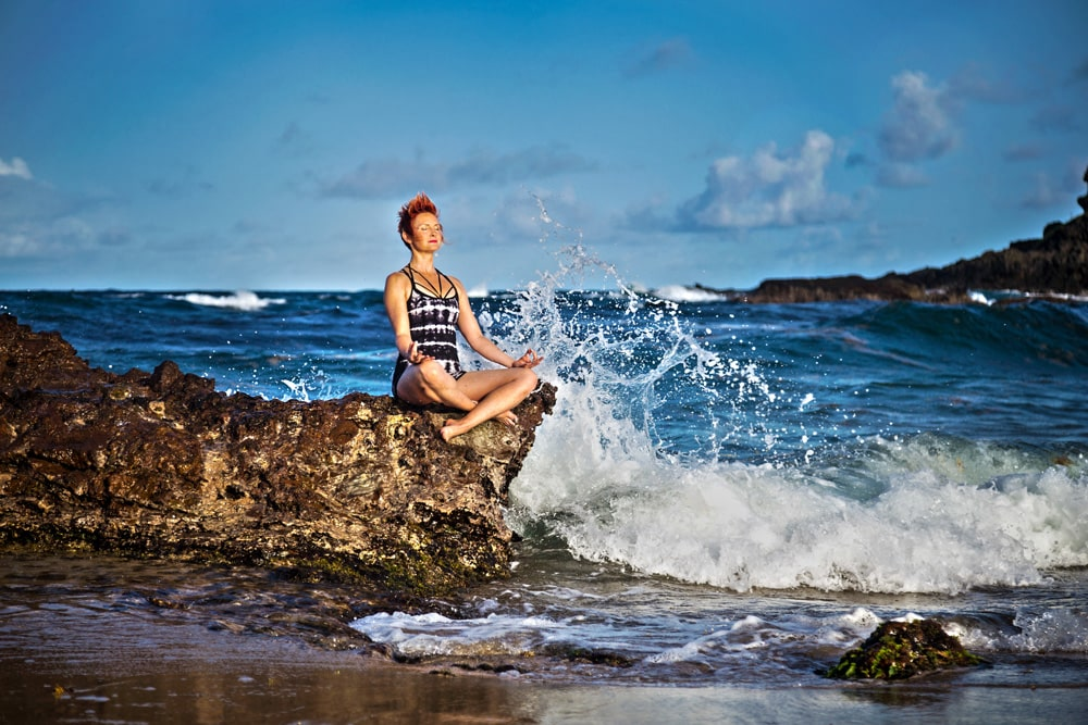 Yoga by the waves
