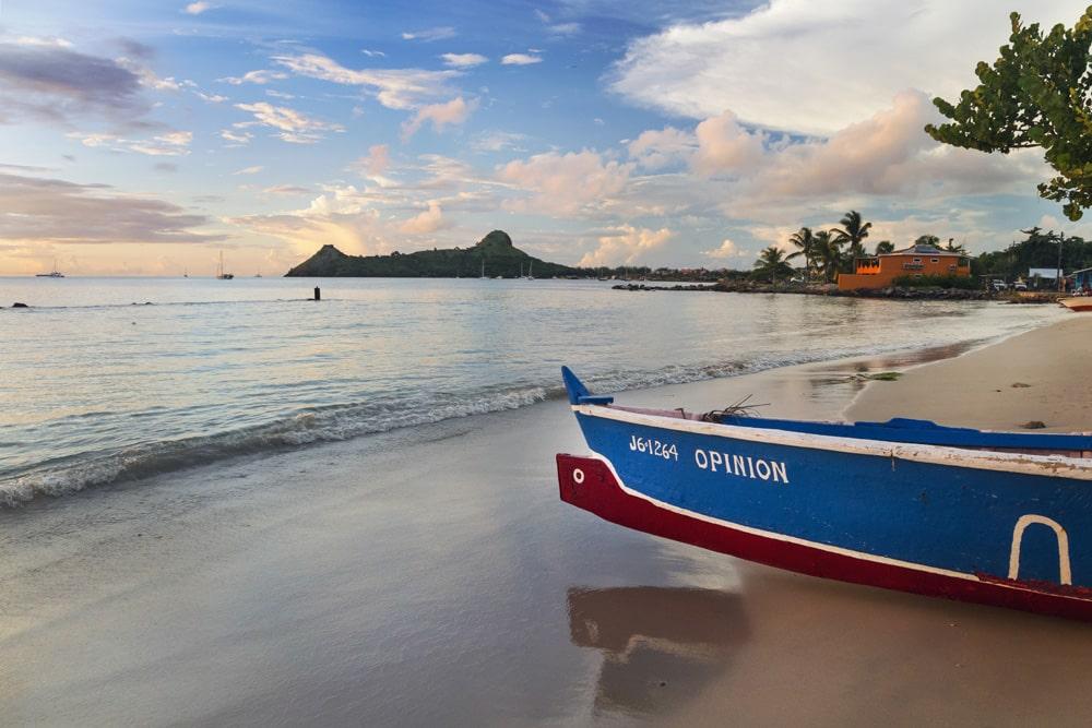 Gros Islet beach, St. Lucia
