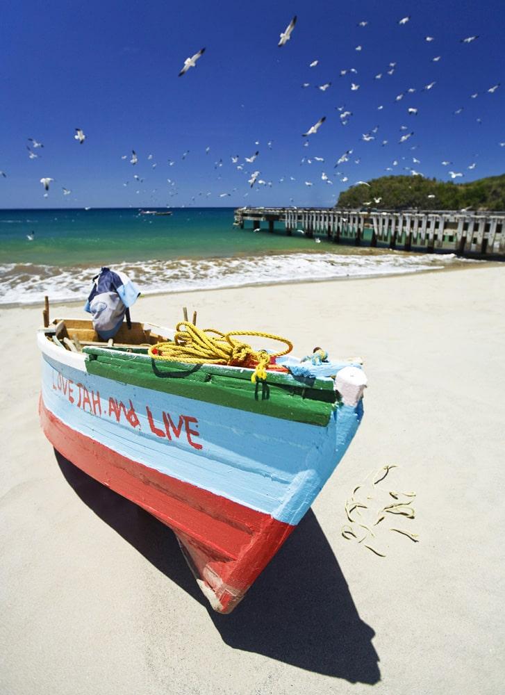 Boat on St. Lucian beach