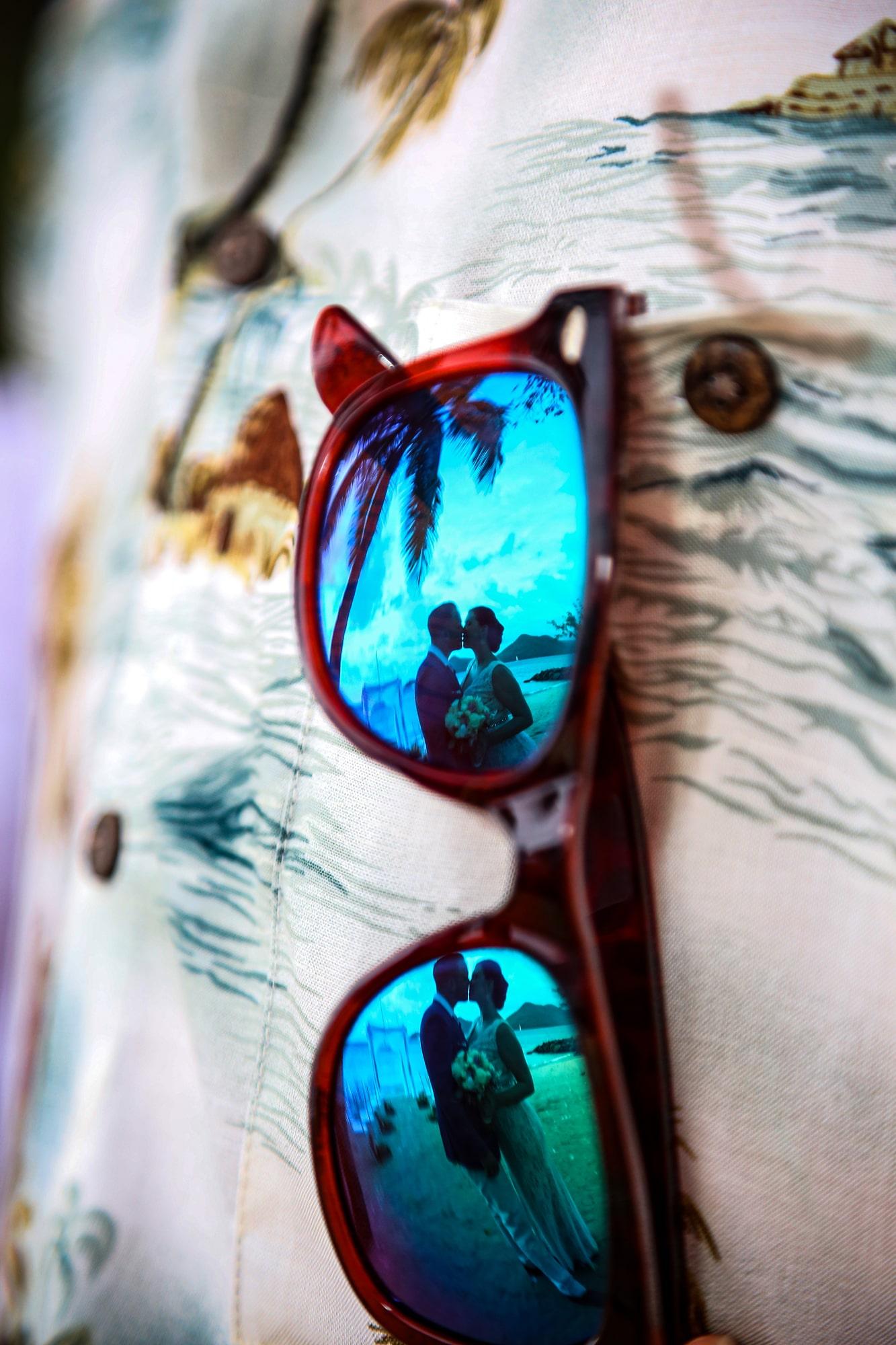 Wedding through shades