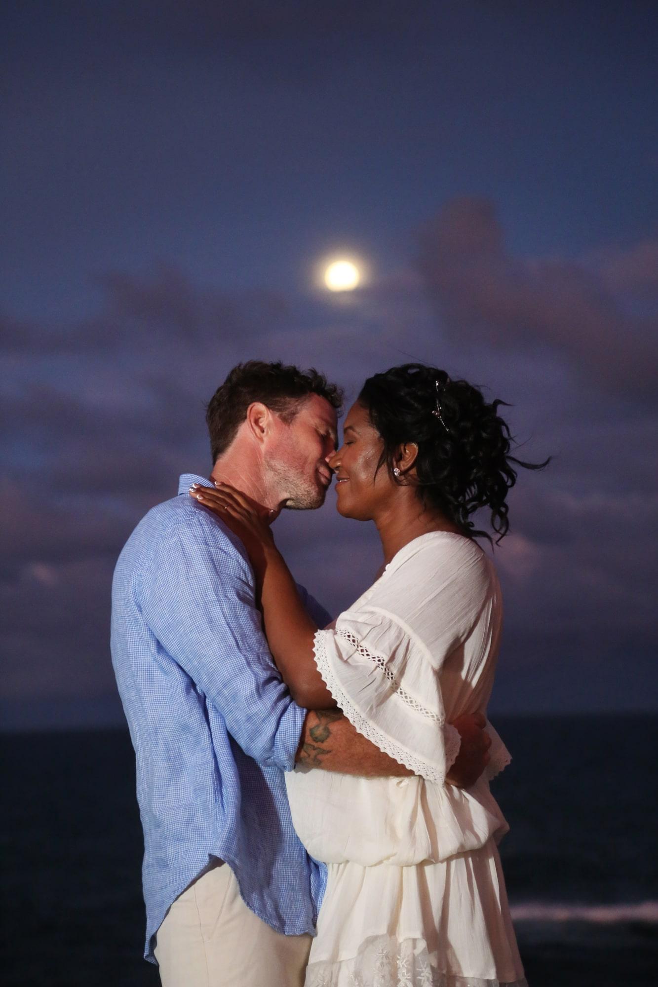 Kiss under moonlight