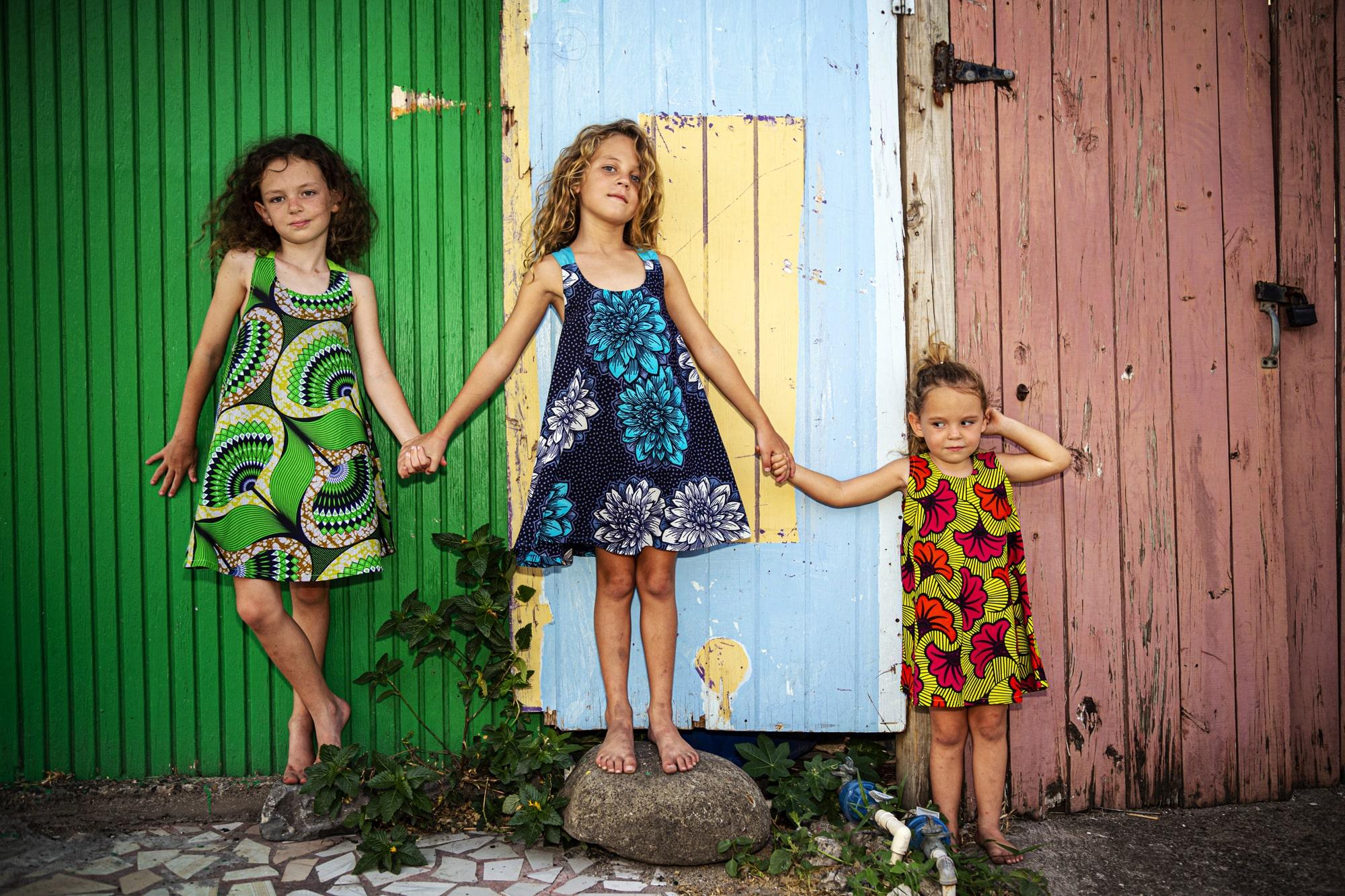 Kids modelling dresses