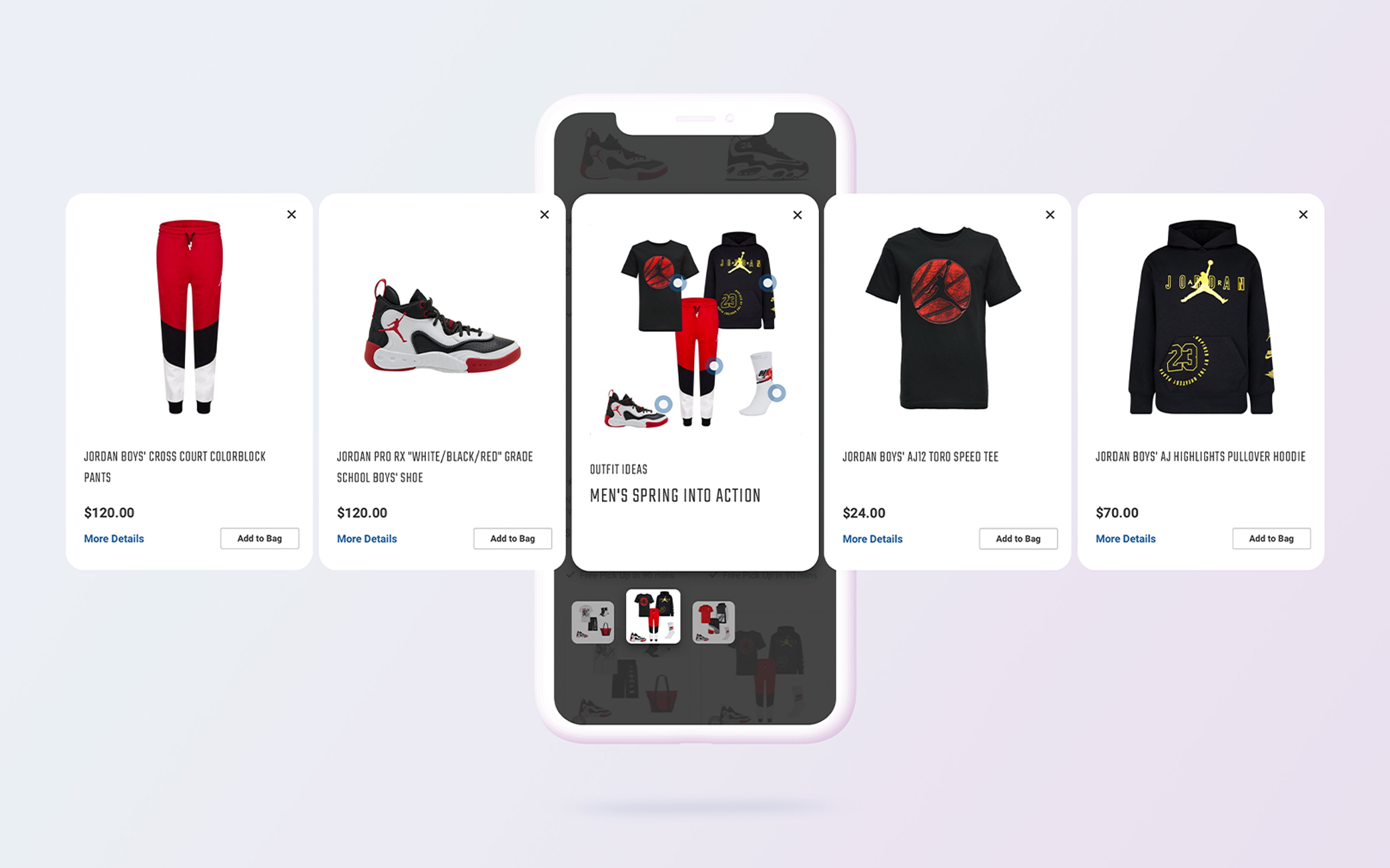 A new outfit feature on Hibbett app