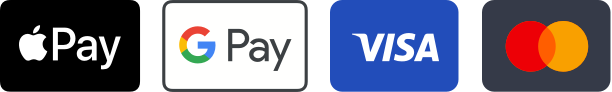 Apple Pay Google Pay VISA Mastercard Logo