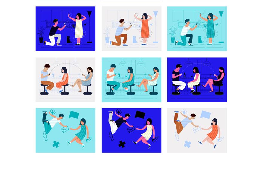 swipe illustrations