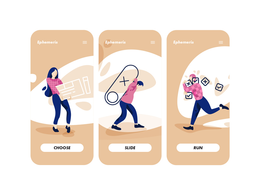 swipe illustrations