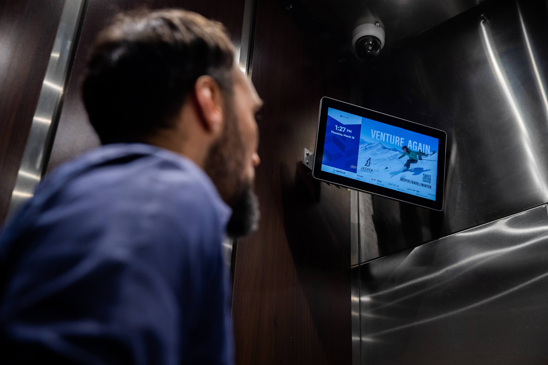 Vertical City - Elevator Screen + resident communication platform