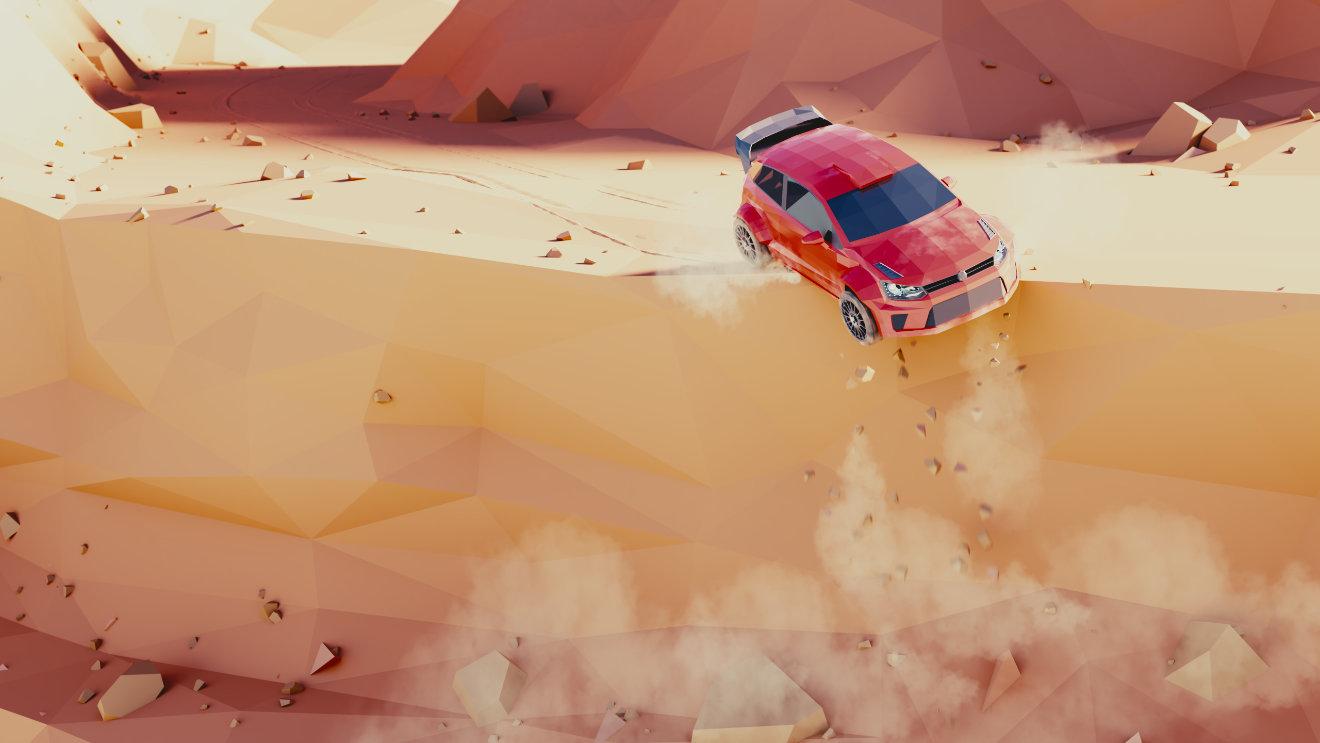 Blender Timelapse - Low Poly Rally Scene