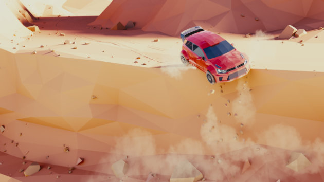 Blender Timelapse - Low Poly Rally Scene