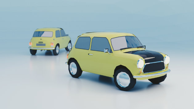 Blender Timelapse - Low Poly Mini Cooper Modeling