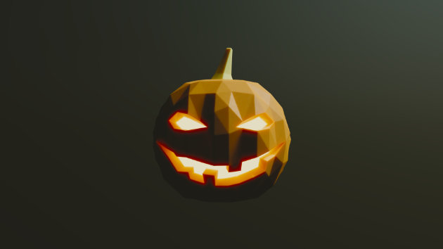 Blender Timelapse - Halloween Pumpkin