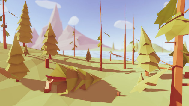 Unity Wind Shader For Low Poly Trees Pack