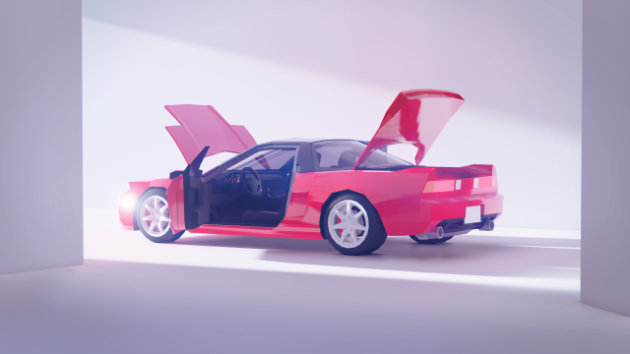 Modeling And Lighting Low Poly Car - Acura NSX - Blender 2.8 Timelapse