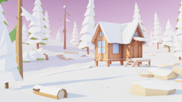 Unity Timelapse - Low Poly Winter