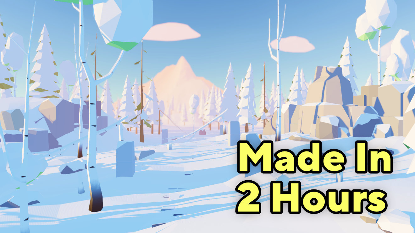 I Made Low Poly Winter Forest Environment In Unity URP (In 2 Hours)