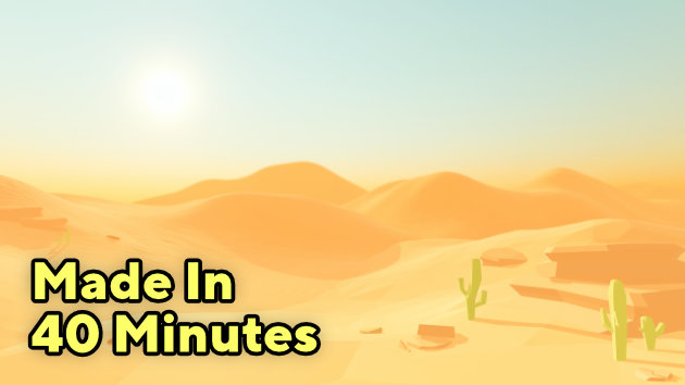 I Made Low Poly Desert Environment In Unity URP (In 40 Minutes)
