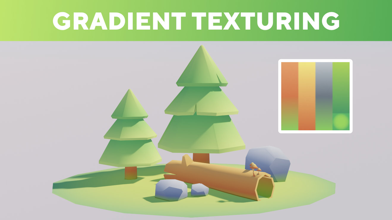 Blender Tutorial - Gradient Texturing (Game Assets)