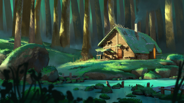 Stylized Background For Animation And 3D Projection (Blender & Photoshop Course)