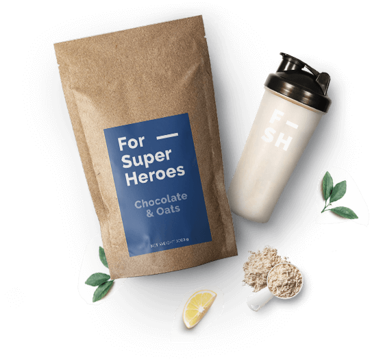 Photo of ForSuperHeroes meal and shaker