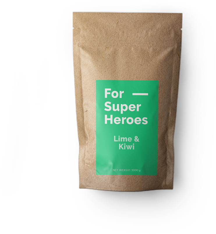 Photo of ForSuperHeroes meal replacement flavour Lime & Kiwi