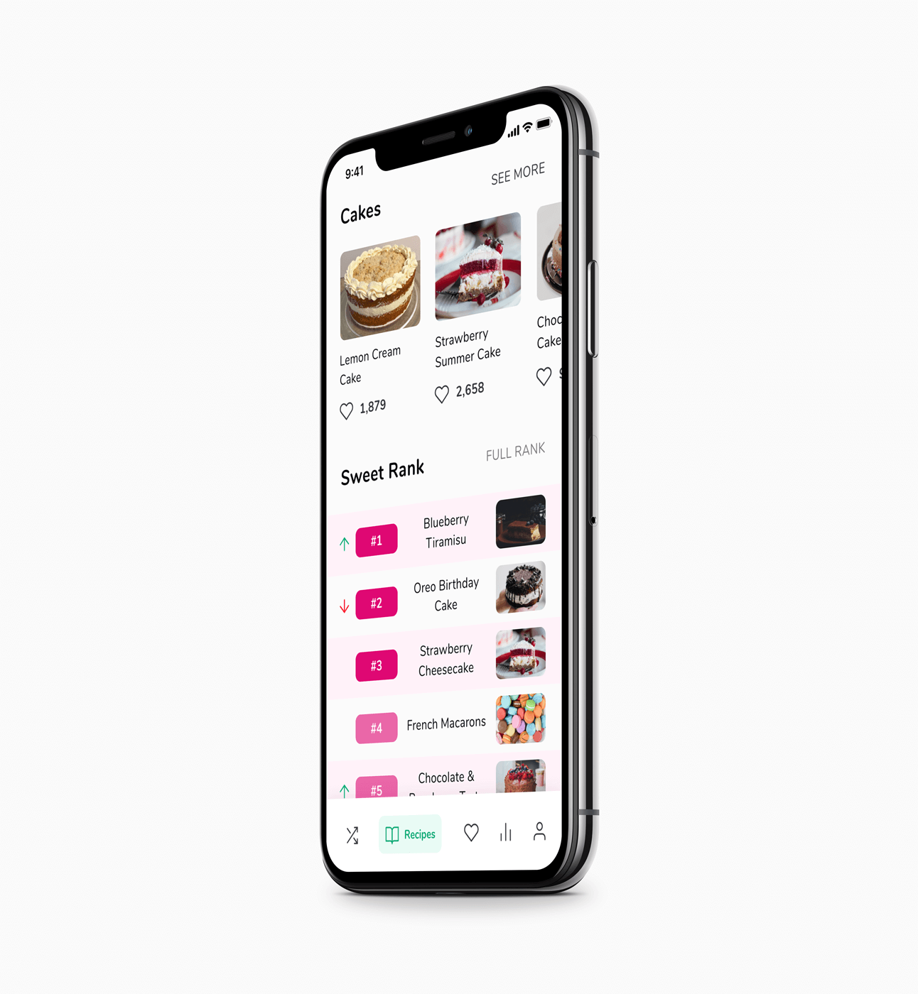 Iphone X mockup with WhatMeal app screen applied