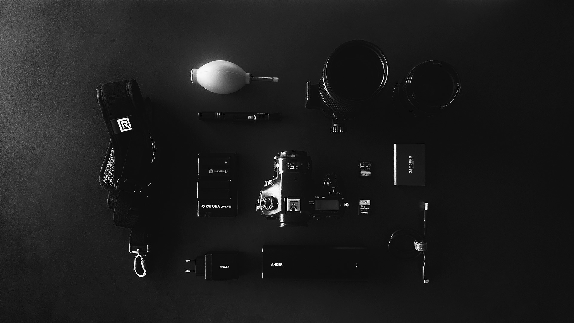 Photography Gear Black and White