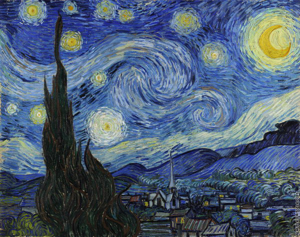 Painting The Starry Night by Vincent Van Gogh