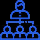 icône organisation hiérarchique
