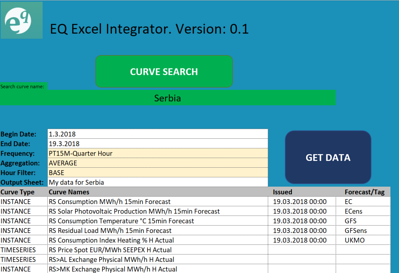 EQ Excel Integrator (early version)