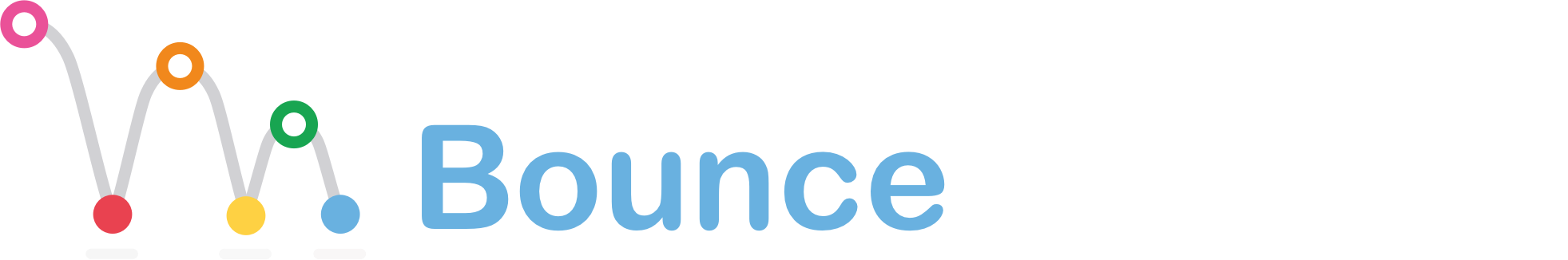 Bounce logo white