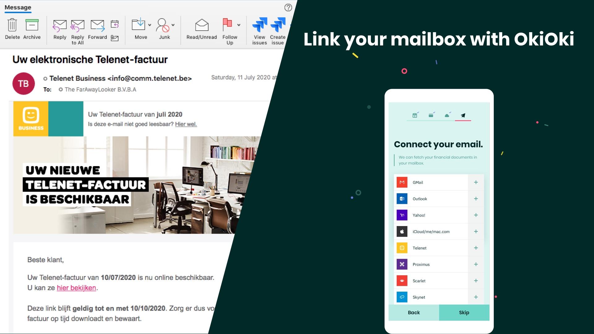Link je mailbox met OkiOki